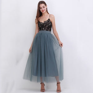 Lace Tulle Skirt
