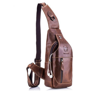 Genuine Leather Crossbody Men's Bag