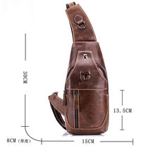 Load image into Gallery viewer, Genuine Leather Crossbody Men's Bag