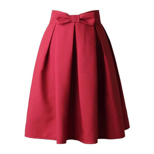 Pleated Casual Skirt