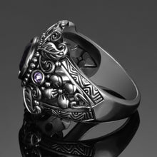 Load image into Gallery viewer, 3ct Amethyst Sterling Silver Ring