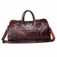 Load image into Gallery viewer, Men's Leather Travel Bag