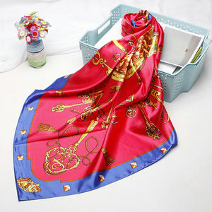Silk Satin Scarf 90*90cm For Ladies