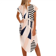Load image into Gallery viewer, Boho Style Geometric Print Dress