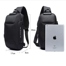 Load image into Gallery viewer, Multifunction Lock Design Crossbody Bag for Men