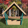 Image of Congo Kid's Chalet Sandbox With Roof - Green and Cedar