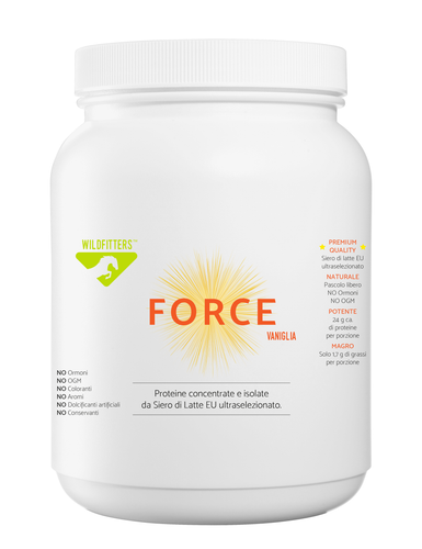 FORCE VANIGLIA - Proteine concentrate e isolate da Siero di Latte EU ultraselezionato