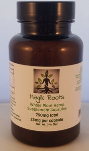 Traditional Hemp CBD Capsules - 750mg