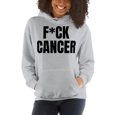 F*CK CANCER Black Letter Hoodies