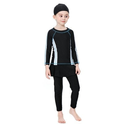 3 Set Piece Girl Muslim Swimwear