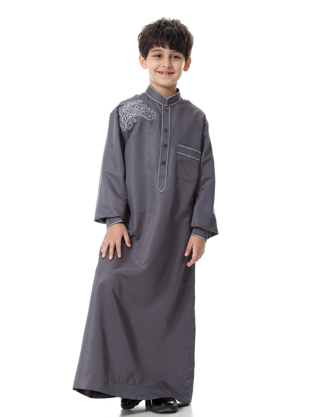 Kids Muslim Long Sleeve Suit