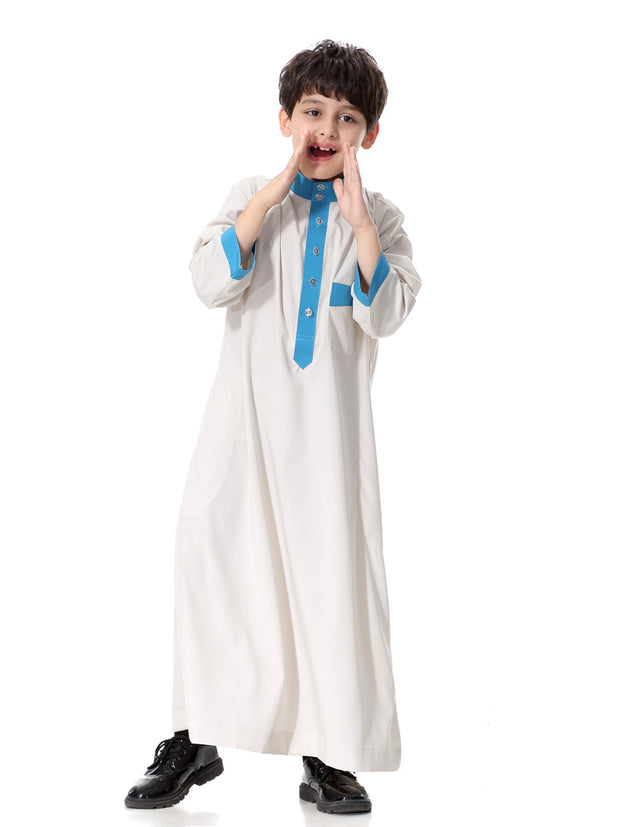 Boys Abaya Kaftan Jubba Long Sleeve