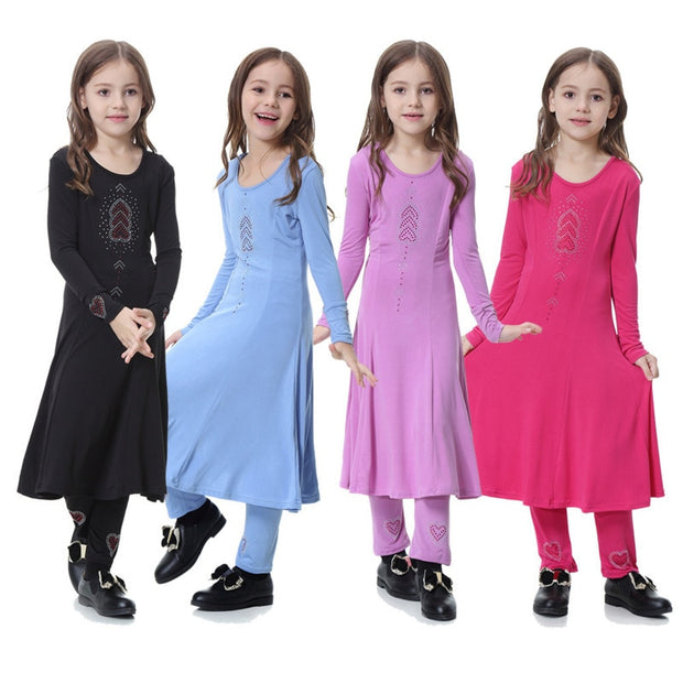 Two-piece Muslim Girl Dress
