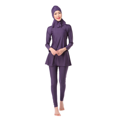 Women Modest Coverage Hijab Swimwear