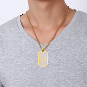 Men Allah Word Pendant