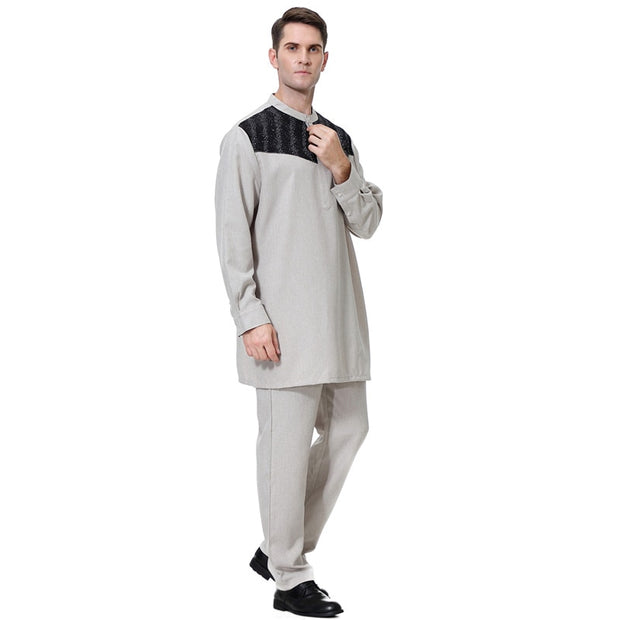 Fashion Muslim Men Top Trouser