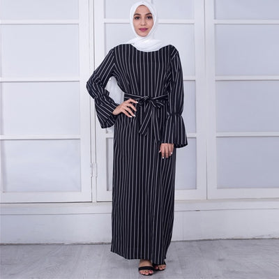 Open Abaya Muslim Casual Wear