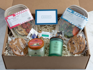 Send Sympathy & Bereavement Curated Gift Boxes, food, candle, gift