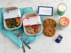 Get well soon gift package food, candle, gifts