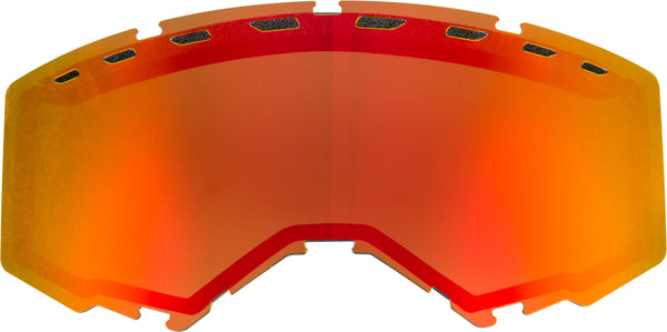 Dual Lens With Vents Adult Red Mirror-brown