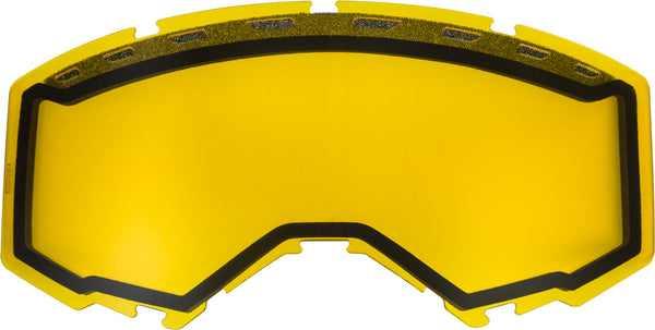 Dual Lens With Vents Adult Yellow
