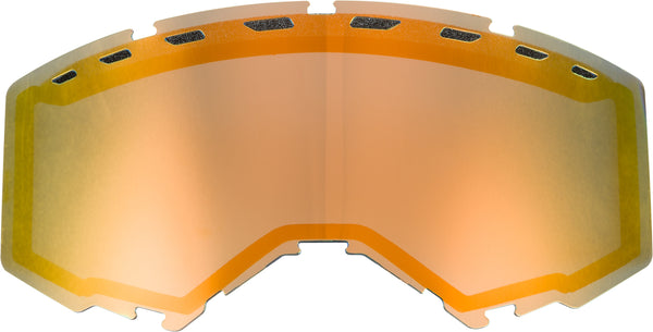 Dual Lens With Vents Adult Orange Mirror-smoke