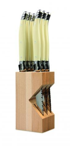Andre Verdier Laguiole Debutant Steak Knife Set - White (6pc)