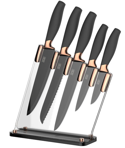 Taylor's Eye Witness 5pc Brooklyn Sloping Knife Block - Copper