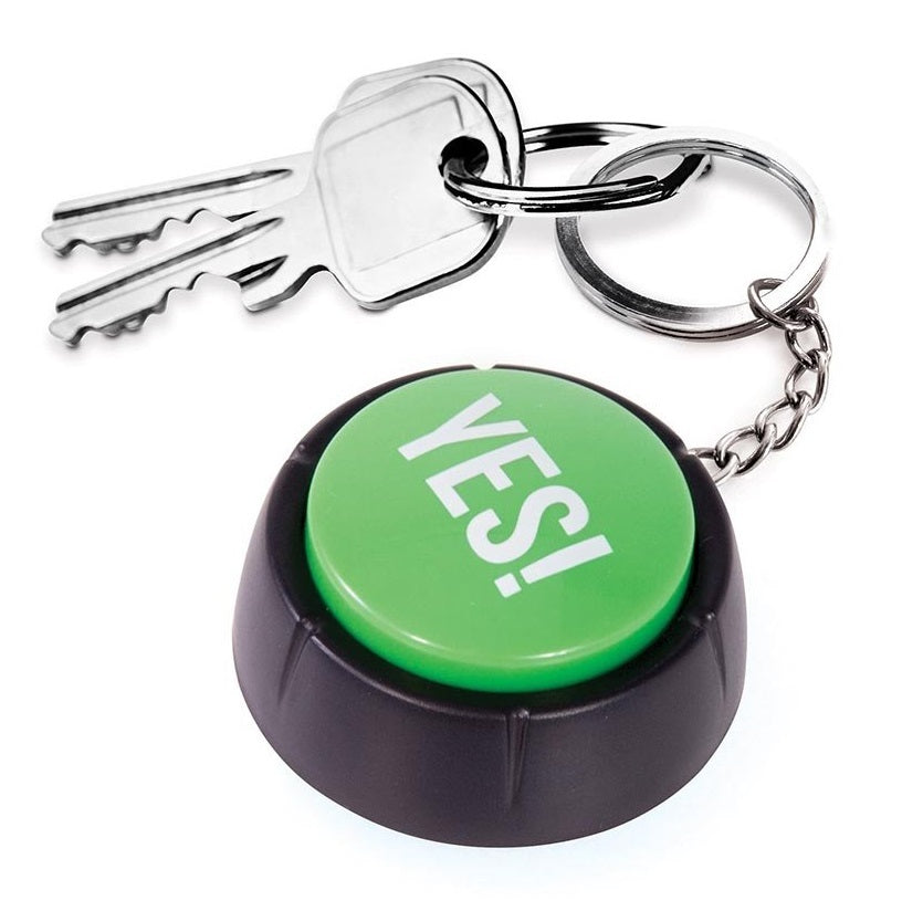 The YES! - Button Keyring