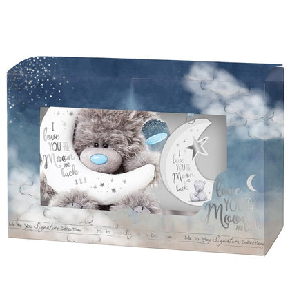 Me To You - Moon And Back Bear & Plaque Set (Gift Boxed)