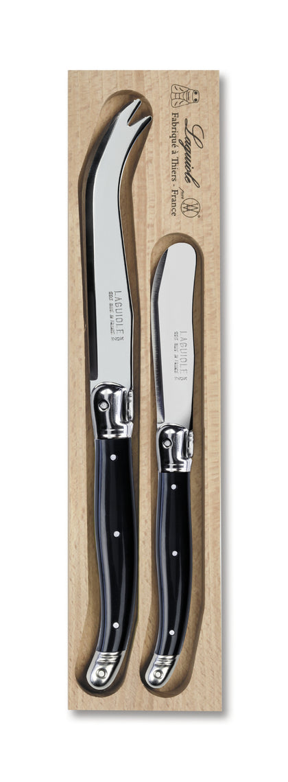 Andre Verdier Stainless Steel Cheese Knife Set - Black (Set of 2)