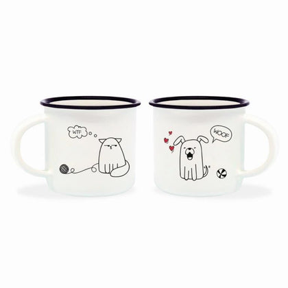 Espresso For Two - Cat & Dog (Set of 2)