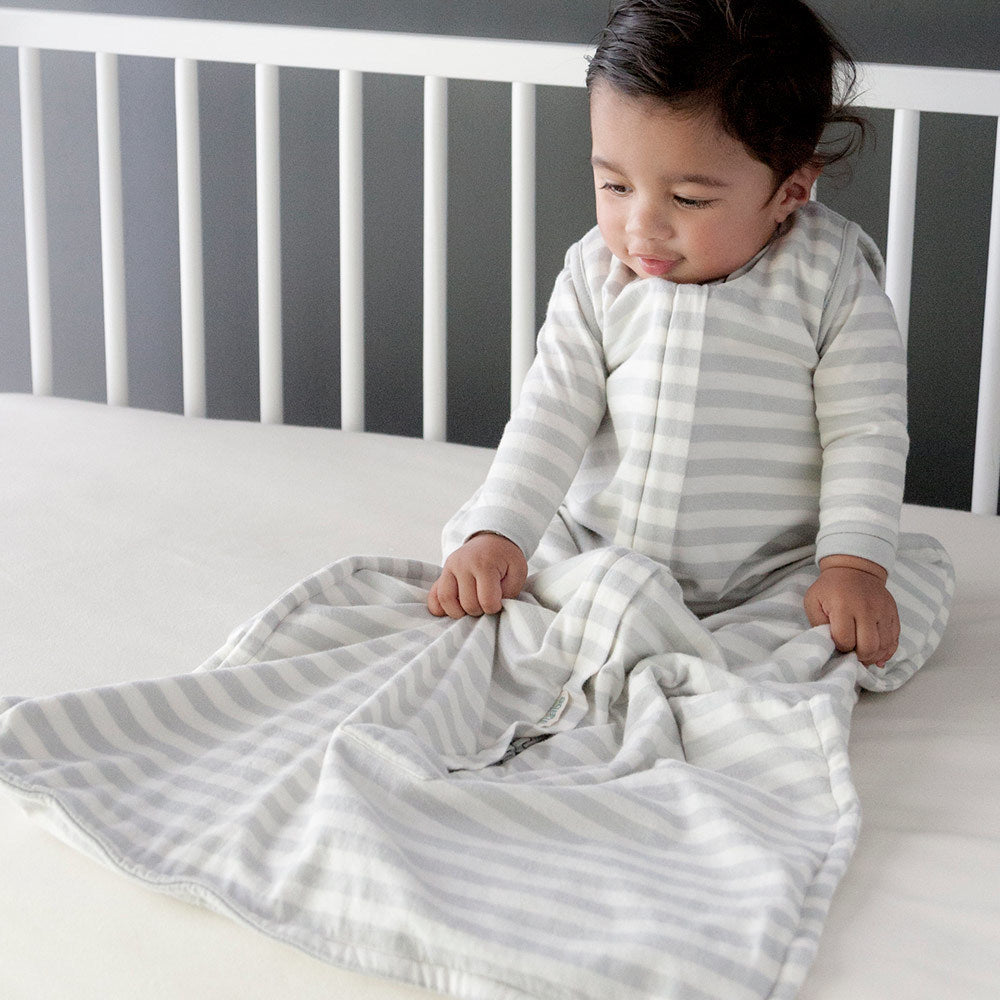 Woolbabe: Summer Weight Sleeping Bag - Pebble (3-24 Months)