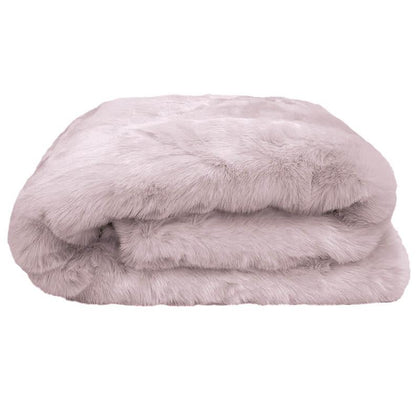 Bambury: Faux Fur Throw - Lilac (130 x 180cm)