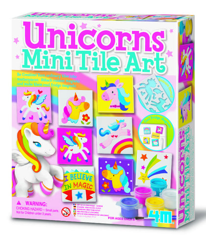 4M Craft: Magnetic Unicorns - Mini Tile Art