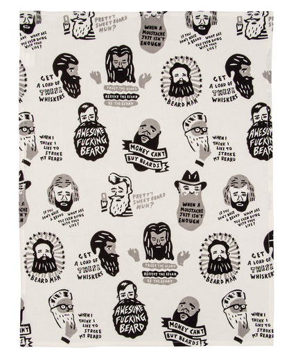 Blue Q: Dish Towels - Awesome F**king Beard