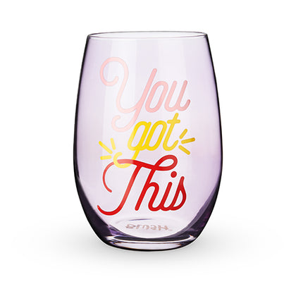 Blush Stemless Wine Glass - You Got This