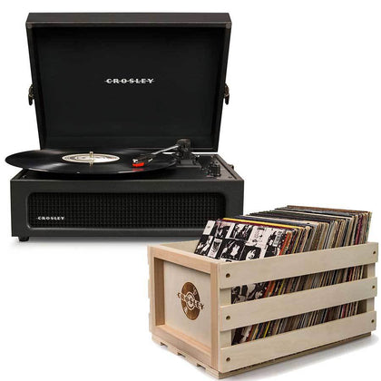 Crosley: Voyager Portable Turntable - Black