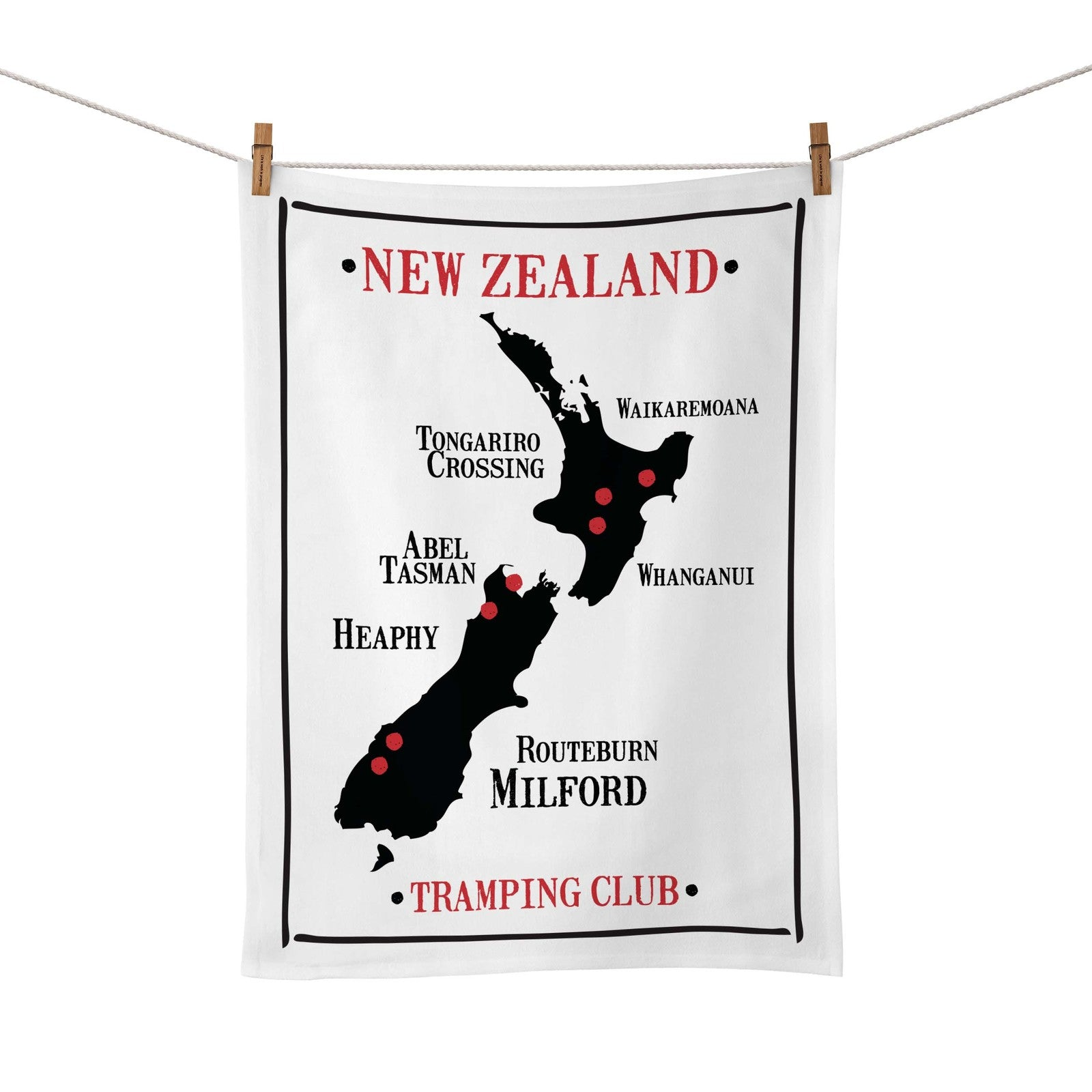 Moana Road: Tea Towel - Tramping Club