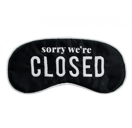 Annabel Trends: Travel Eye Mask - We're Closed