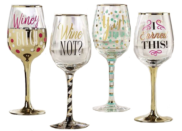 Attitude Wine Glass - Yay I Did It!