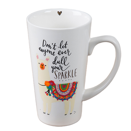 Natural Life: Latte Mug - Don't Let Anyone Dull Your Sparkle
