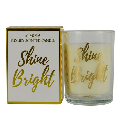 Candlelight: Gold Mimosa Scented Candle - Shine Bright