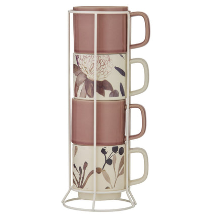 Amalfi: Mischa Mug Set with Stand (5pc)