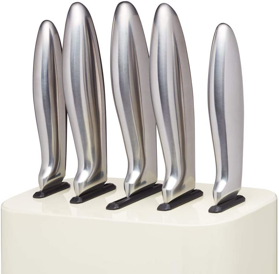 KitchenCraft: Lovello 5pc Knife Block Set - Cream