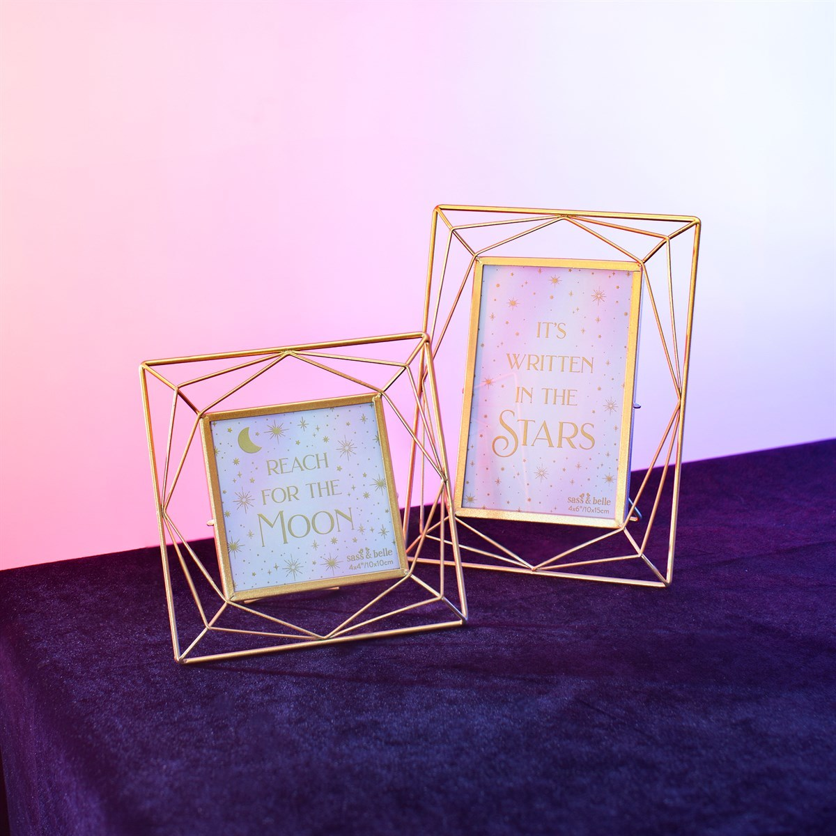 Sass & Belle: Trapeze Gold Photo Frame