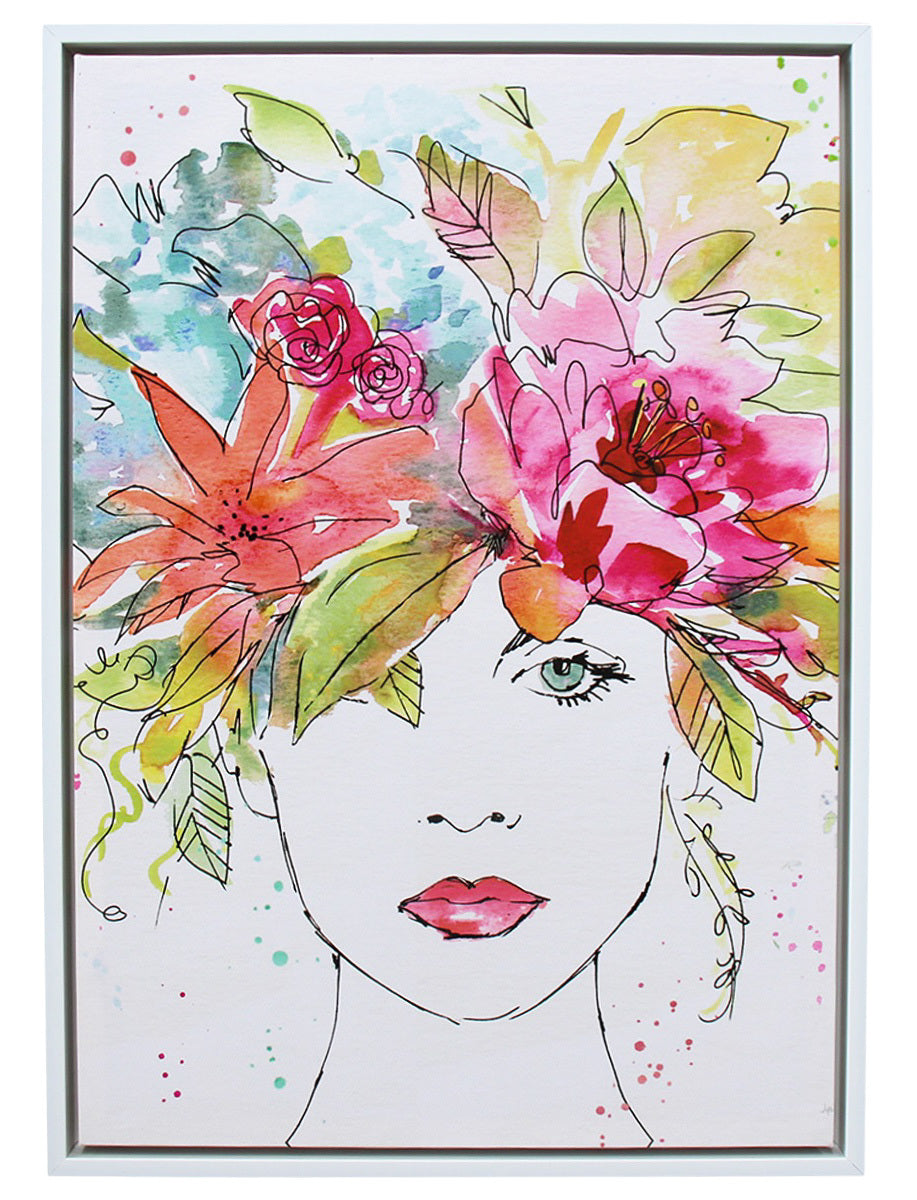 LaVida: Framed Canvas - Floral Figure
