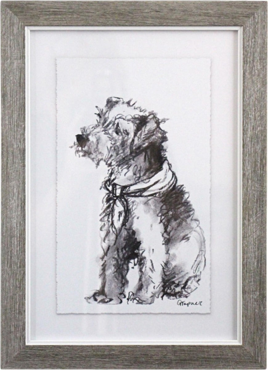 LaVida: Framed Puppy Drawing 4