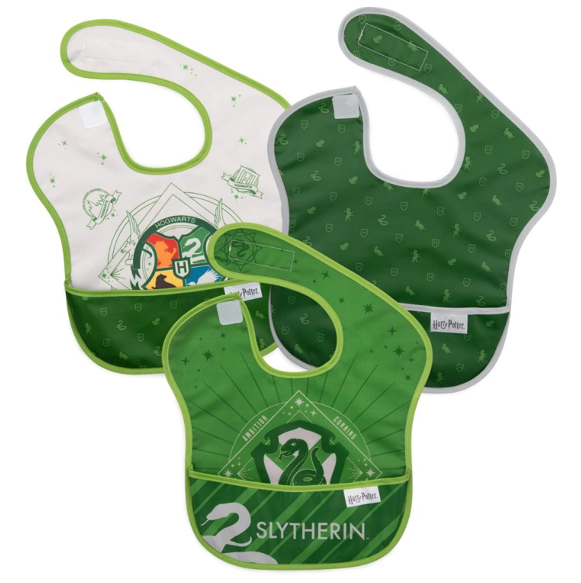 Bumkins: Waterproof SuperBib 3-Pack - Harry Potter: Slytherin