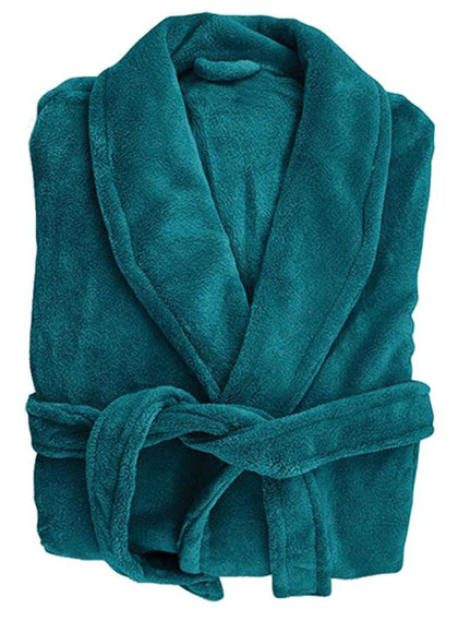Bambury: Retreat Microplush Robe Teal